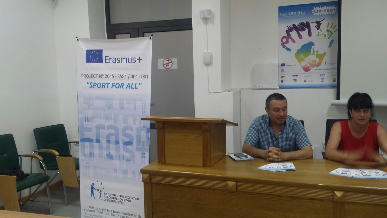 BSFCDPC AND BALCHIK MUNICIPALITY HELD A CLOSING CONFERENCE UNDER 'SPORT FOR ALL' PROJECT
